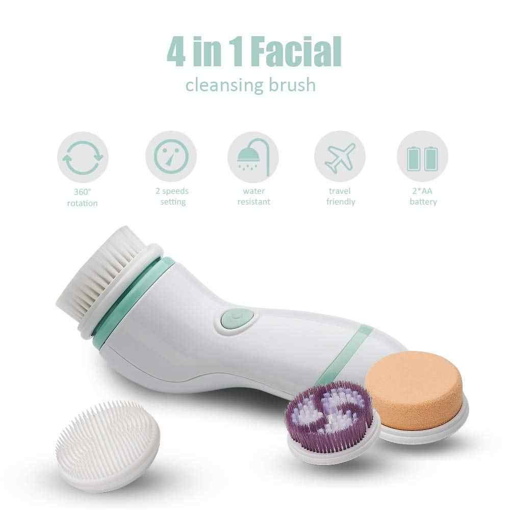 Outil de nettoyage profond de pores de caisse de voyage portative de brosse de nettoyage de rotation de corps de visage de peau imperméable électrique