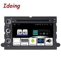 "Idoing 7 ""2Din Android 9.0 รถวิทยุ DVD มัลติมีเดียสำหรับ Ford Fusion Explorer Edge 2004-2009 4G + 64G 8 Core GPS Navigation"
