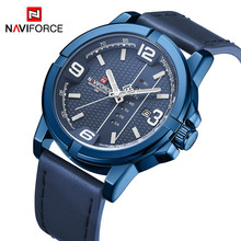 NAVIFORCE Top Brand Luxury Men Fashion Watches Sports Quartz Watches for Men Waterproof Genuine Leather Watch Relogio Masculino men watches eyki brand luxury waterproof genuine leather quartz watch classic independent seconds fashion casual watches hodinky