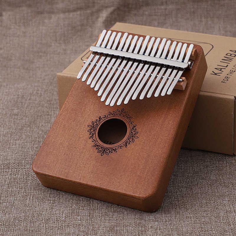 Kalimba Mbira 17 klawiszy ciała kciuk fortepian drewno mahoń Mbira Instrument muzyczny najlepsza jakość i cena