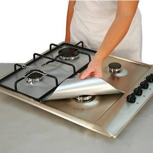 Removable Easy Clean Square Cooker Foil Gas Hob Protector Liner Stove Protection Mat