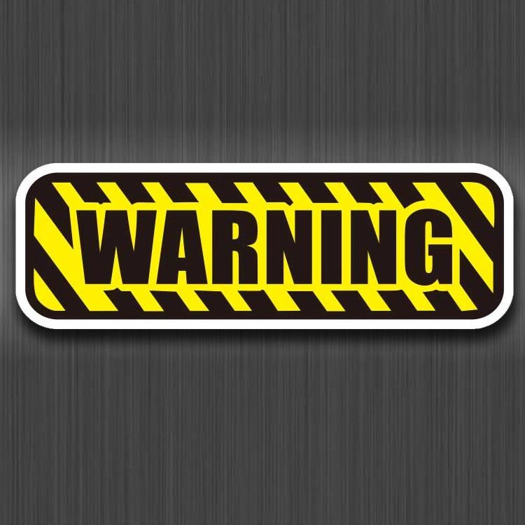 Warning Sign Danger Stickers Logo PVC Waterproof For Luggage Car Guaitar Skateboard Phone Laptop Bicycle Moto Stickers
