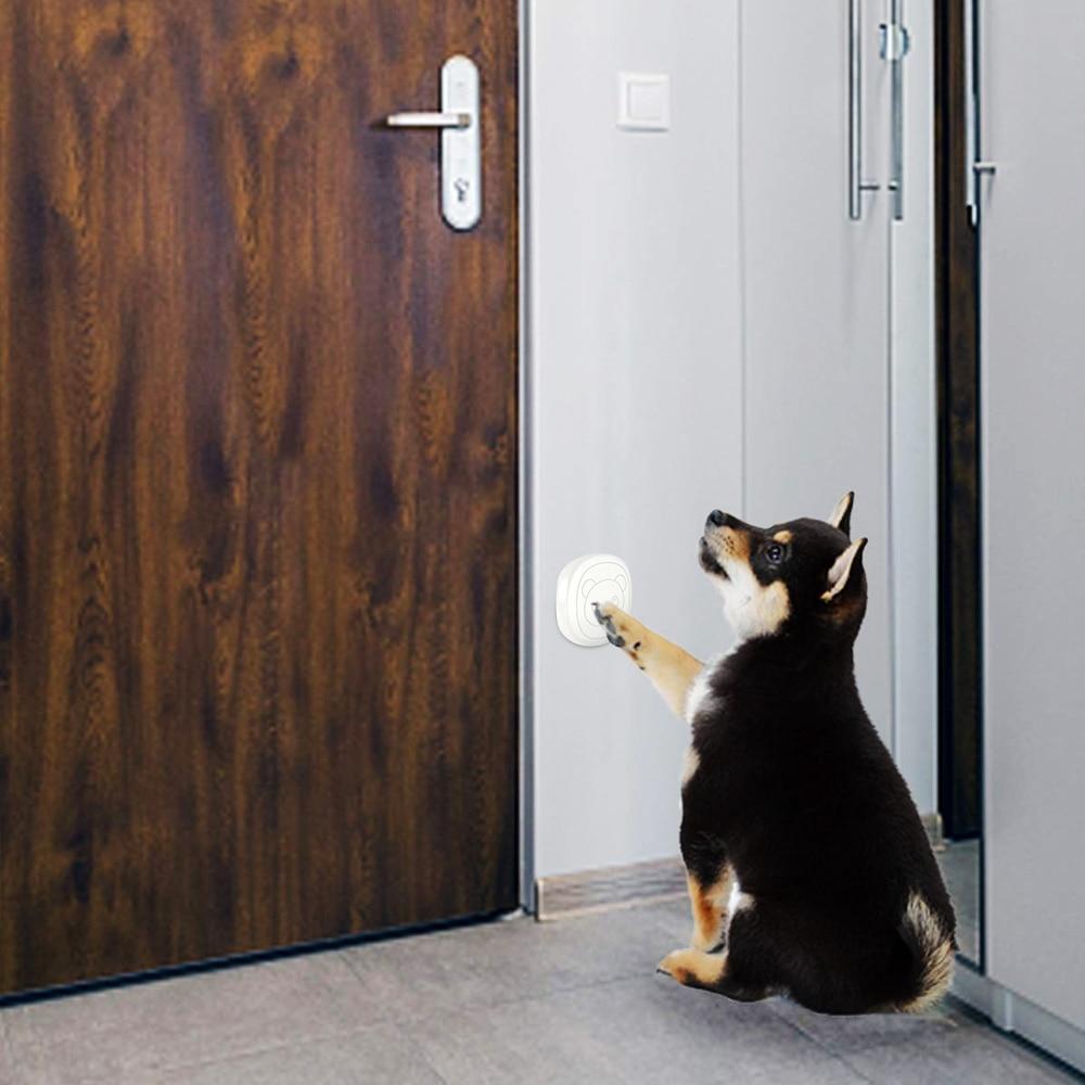 Pet Dog Doorbells Wireless Door Bell House-training Multifunction Sensor Motion (Receiver & Transmitters) Training Tool-3