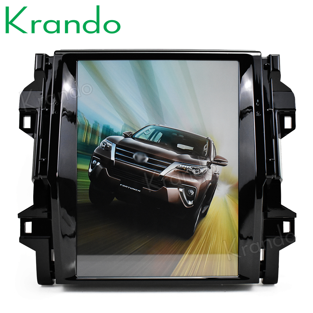 Krando Android 7 1 12 1 Tesla Vertical touch screen car dvd radio player for Toyota