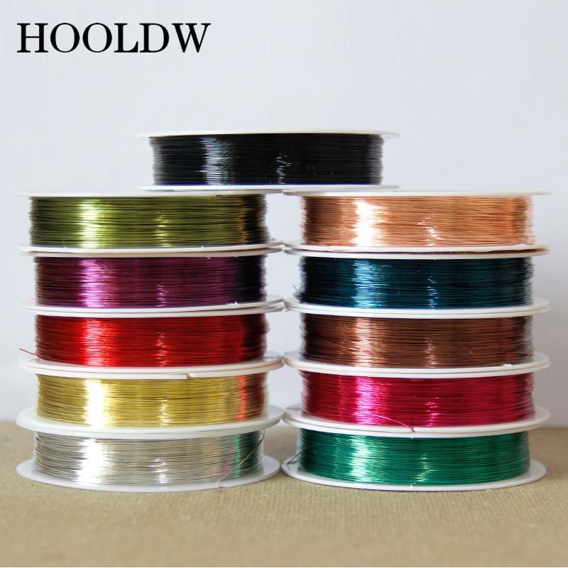 Медная проволока, серебристая, золотая, медная нить для рукоделия, изготовления браслетов, ювелирных изделий, нитка 40 м 0,3/0,4/0,5/0,6/1,0 мм