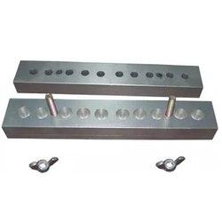 Molde de supositorio de aluminio, 10 cavidades, 2g