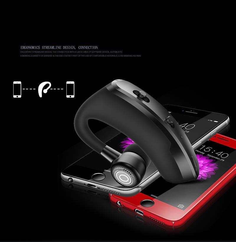 V9 earphones Bluetooth headphones Handsfree wireless headset Business headset Drive Call Sports earphones for iphone Samsung 2
