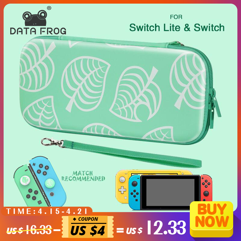 DATA FROG Animal Crossing Portable Travel Carrying Case For Nintend Switch/Lite Console Storage Bag For NS Lite Game Accessories