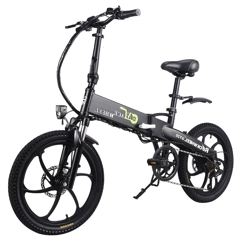 Stock & Russia Europe 20'' Electric Folding Bike 48V Motor 7 Speed gears E-Bike Front Rear Disc Brake Magnesium Alloy Wheel 1