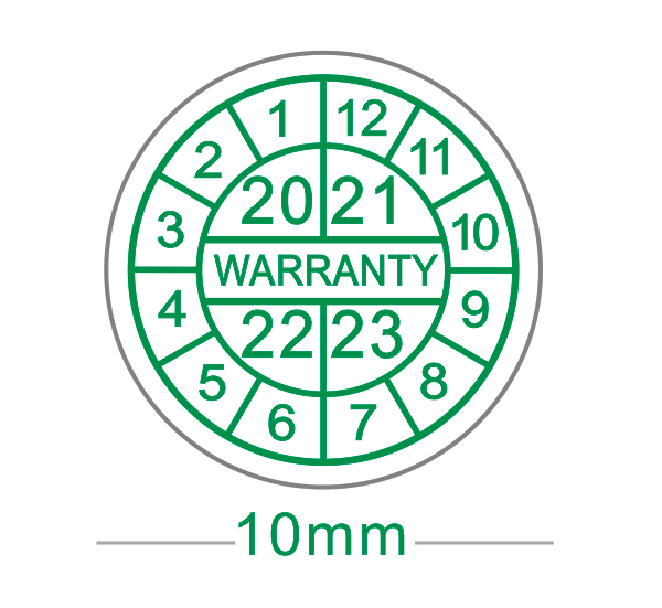 1000pcs/lot Warranty sealing label sticker void if seal broken, fragile label,diameter 1cm green