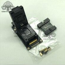 Novo adaptador de tomada original ufs bga 254% emmc 254 2 em 1 para caixa jtag plus fácil