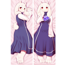 Anime Game Undertale Toriel Dakimakura Bed Hugging Body Pillow Case Cover Sexy Girl Wife Cushion Case Otaku Pillowcases Gift(China)