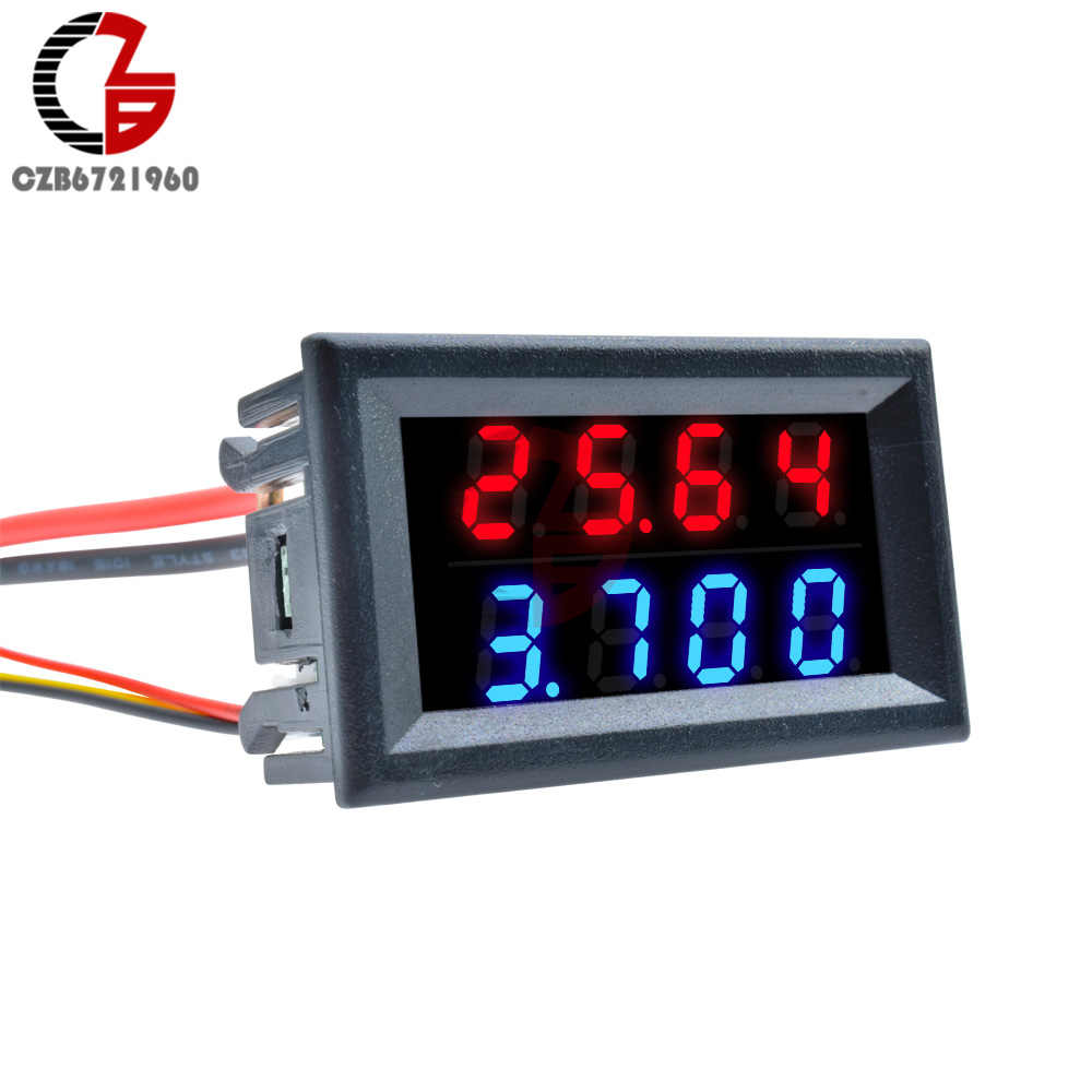"DC 0-100V 0-200V 10A 0.56"" Mini LED Digital Voltmeter Ammeter 4 Digit Voltage Current Meter Car Battery Capacity Tester 5V 12V"