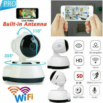 HD 1080P Cloud Wireless IP Camera Intelligent Auto Tracking Of Human Home Security Surveillance CCTV smart Network Wifi Camera wifi wireless network hd head cloud monitoring smart camera phone remote broadcast