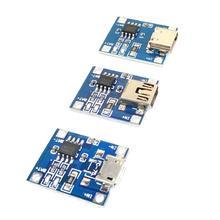 100 قطعة/الوحدة مايكرو USB 5 فولت 1A 18650 TP4056 بطارية ليثيوم شاحن وحدة شحن مجلس مع حماية وظائف مزدوجة