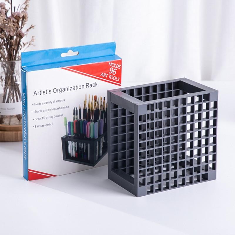 Ultimate DealªRack Brushes-Holder Pen-Stand Painting-Organizer Pencil-Storage Art-Supplies Square School