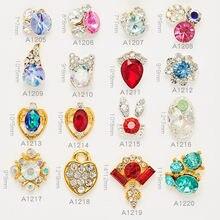 Alta qualidade 10 pçs nova variedade de diferentes formas k9 liga diamante mágico diy suprimentos de unhas acessórios decorativos