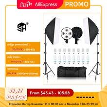 Photo Studio 8 LED 20W Softbox Kit Photographic Lighting Kit Camera & Photo Accessories 2 Light Stand 2 Softbox for Camera Photo
