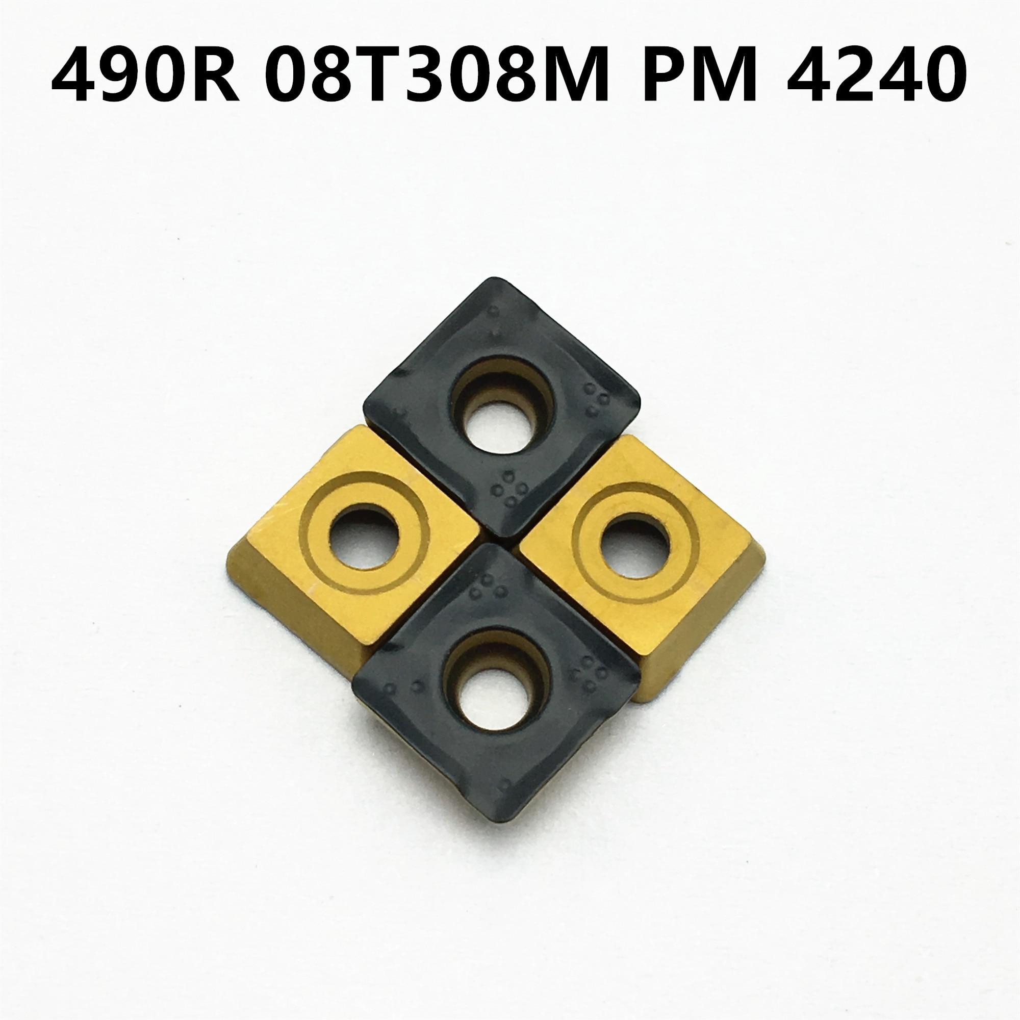 High Quality 490R 08T308M PM4240 490R08T308M PM 4240 CNC Carbide Turning Insert Cutting Blade 490R
