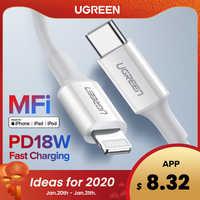 Ugreen Cavo Mfi Usb Tipo C a Lightning per Iphone 11 Pro X Xs 8 Xr PD18W Veloce Usb C cavo di Carico di Dati per Macbook Pd Cavo