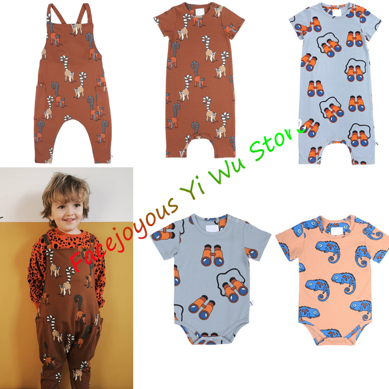 Baby Romper 2020 CarlijnQ New Summer Baby Infant Boys Girls Cartoon Print Jumpsuits Newborn Cotton Homewear Clothes Rompers 0-4T