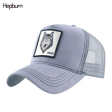 Hepburn Brand Mesh Baseball Cap Unisex Lovely Animals Caps Black Snapback Men Women Animal Farm Trucker