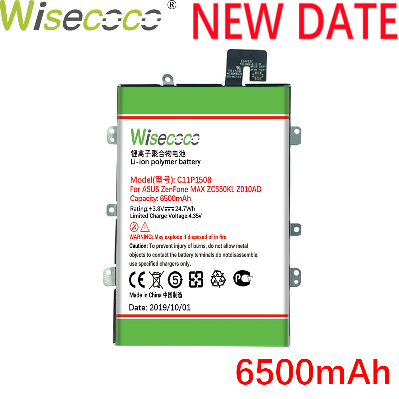 Wisecoco C11P1508 6500mAh Newly Produced <font><b>Battery</b></font> With Frame For <font><b>ASUS</b></font> Zenfone Max ZC550KL Z010AD Z010DD <font><b>Z010D</b></font> Z010DA Built-in image