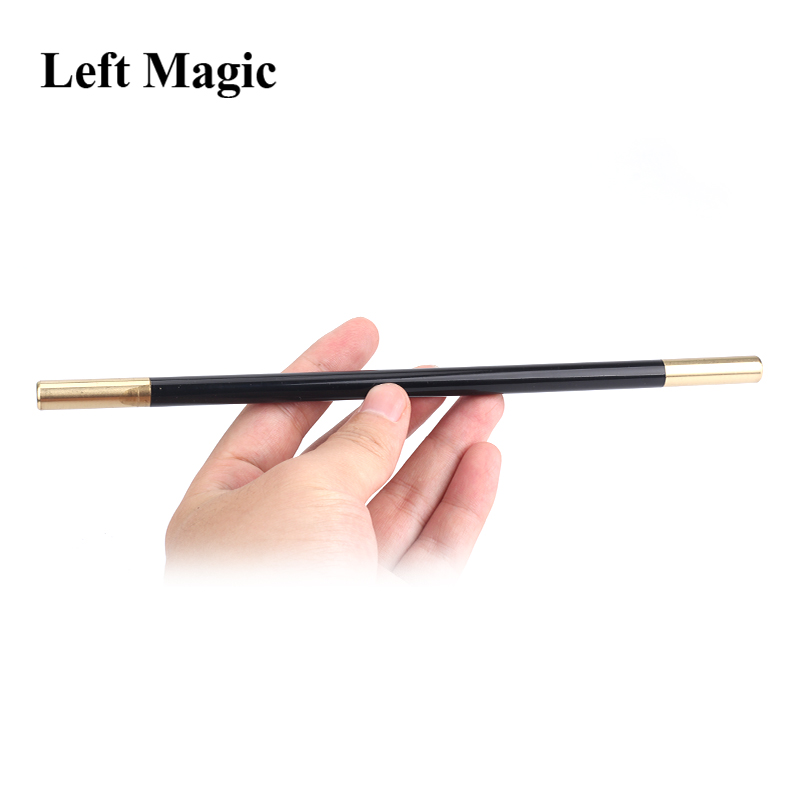 Magic Wand In Black (With Brass Tips) Magic Tricks Accessory Magician Tool Close Up Stage Street Illusions Props Gimmick Fun