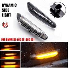 2PCS Dynamic Flowing LED Turn Signal Light Side Marker Indicator Blinker Lamp For BMW E60 E61 E90 E91 E81 E82 E88 E46 X3 X1