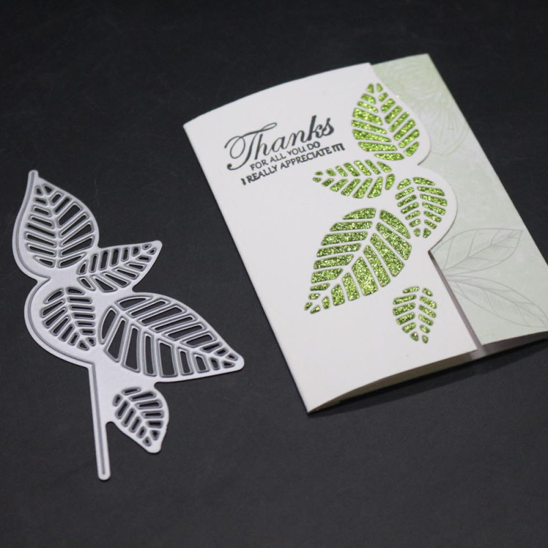 Leaf Strip Metal <font><b>Cutting</b></font> <font><b>Dies</b></font> Green Leaves Frame <font><b>Die</b></font> <font><b>Christmas</b></font> Stencil Scrapbooking Paper Cards <font><b>Stamps</b></font> <font><b>And</b></font> <font><b>Dies</b></font> <font><b>2019</b></font> New Craft image