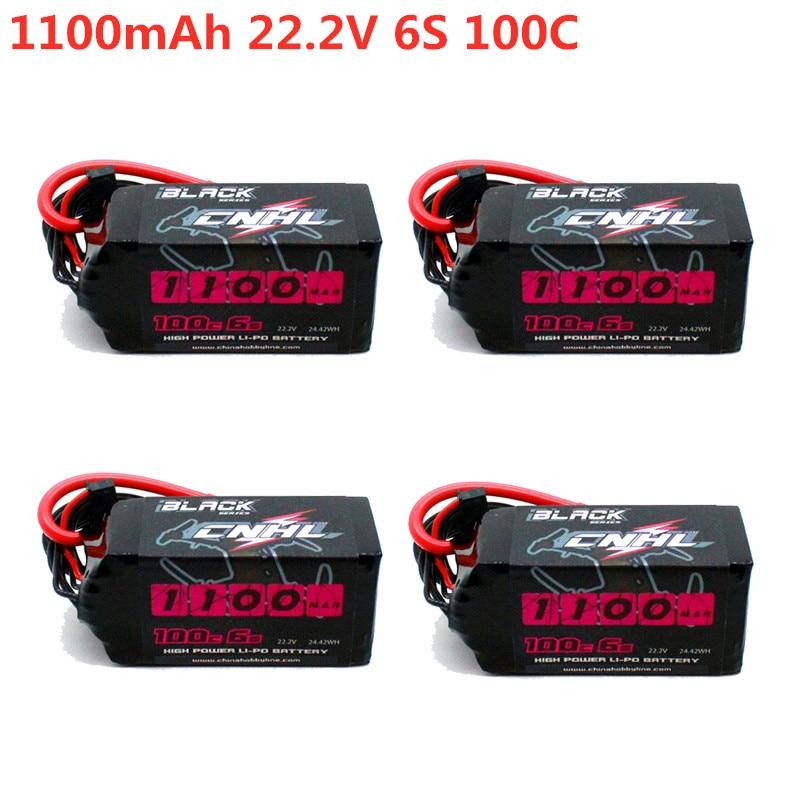 1/2/4 PCS CNHL BLACK SERIES 1100mAh 22.2V 6S 100C Lipo Battery XT60 Plug for FPV Racing Drone RC Parts Multirotor Multicopter