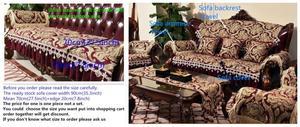 Image 5 - מפואר כרית ספה ריפוד אירופאי חתך ספת כיסוי ספה כיסוי ספה הדו מושבית ריפוד