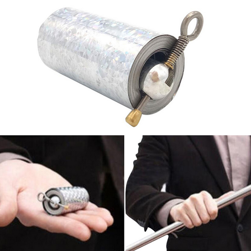 Portable Steel Metal Magic Pocket Staff flexible Magical Wand Gold Toy 1.1m Tool