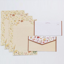 Stationery Envelopes Letter Paper Flower-Printing And for Student-Supplies Practical