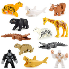 Building-Toys for Children Model Gift Figure-Blocks Construction-Bricks Sharks ABS Movable