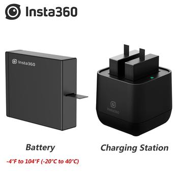 Oryginalne zestawy baterii Insta360 ONE X 1050Mah na zimno Insta 360 rozdzielacz ładowarki panoramiczny aparat 1 godzina szybkie ładowanie tanie i dobre opinie 360 ° Wideo Kamery Akcesoria Zestawy