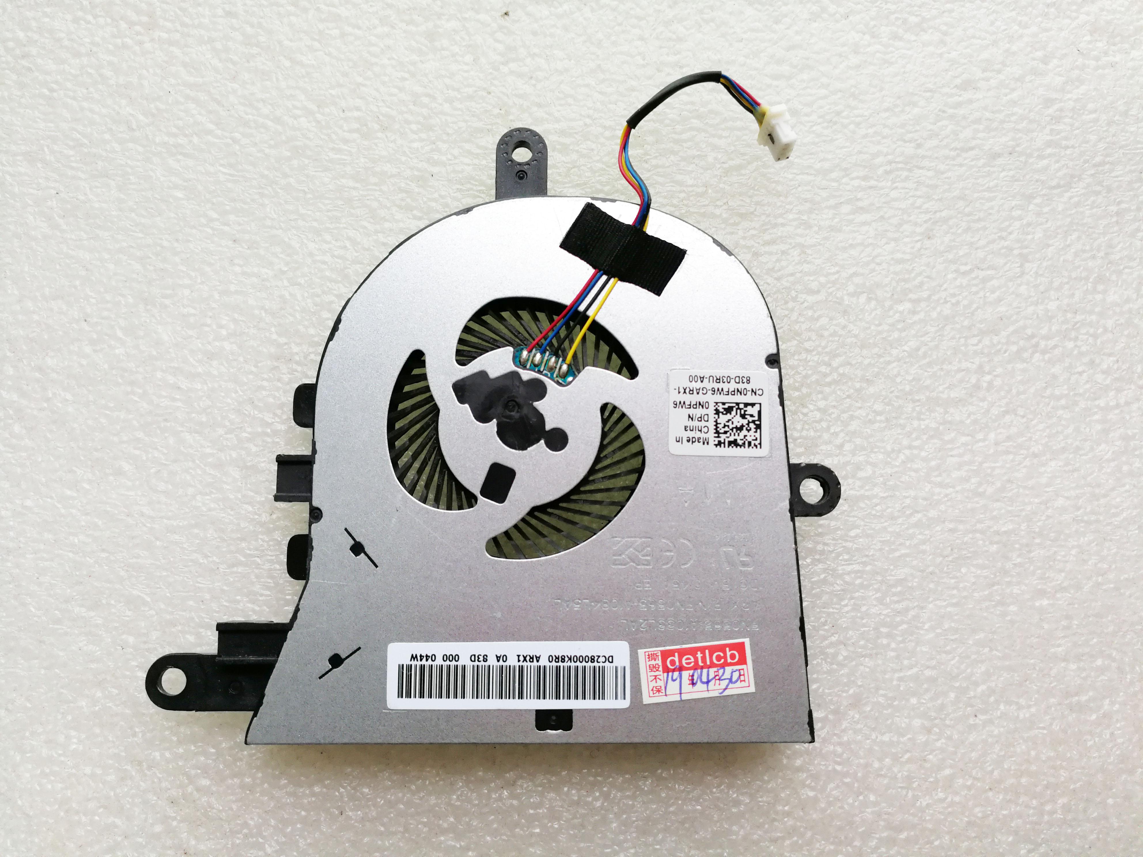 Original para Dell Latitude 3590 L3590 15 E3590 fan cpu cooler para inspiron 5570 5575 NPFW6 0NPFW6 cn-0NPFW6 DC28000K8R0