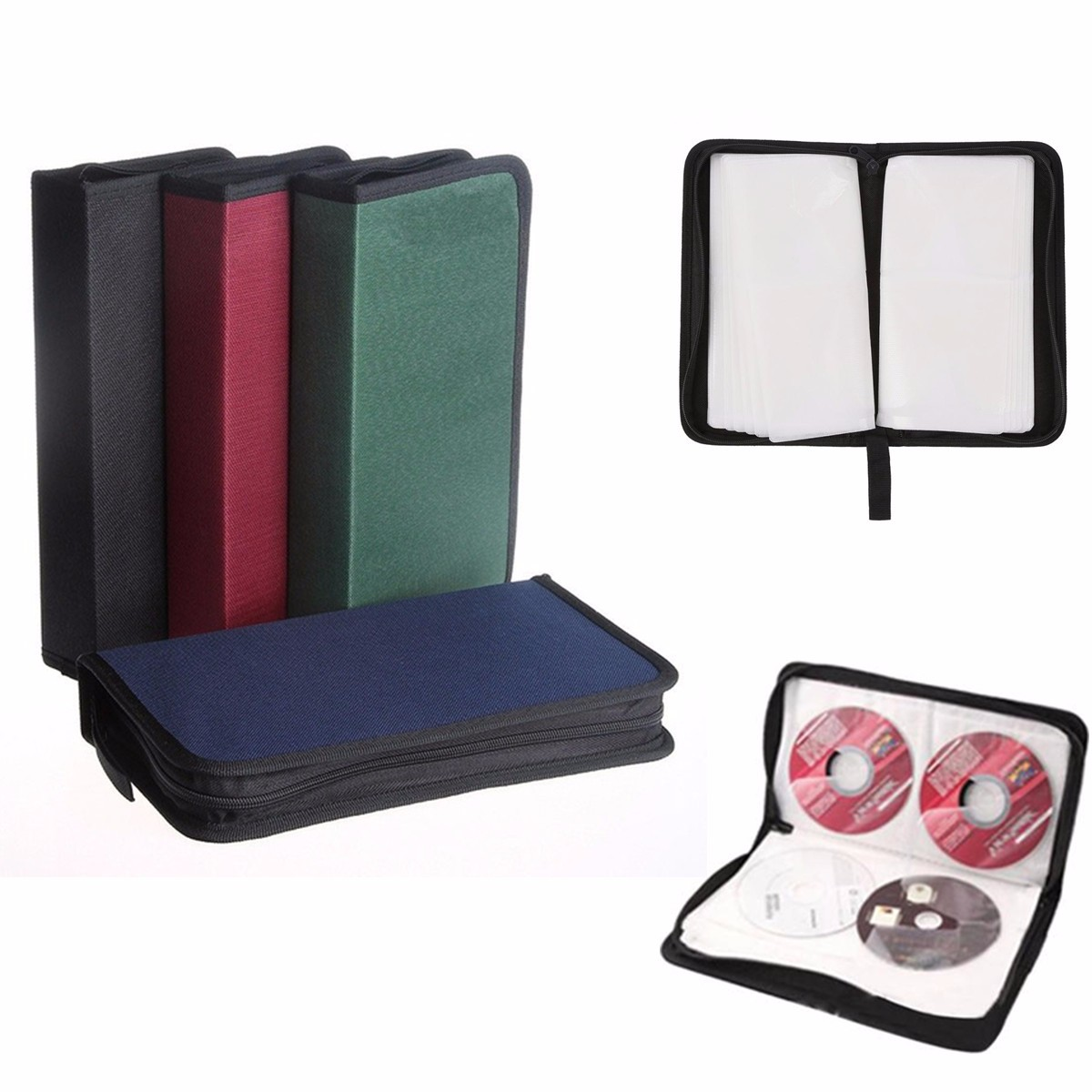 80 Disc Carry Box Holder Package Car Storage <font><b>Bag</b></font> Case Album DVD <font><b>CD</b></font> <font><b>Organizer</b></font> Protective Cover Home Supplies image