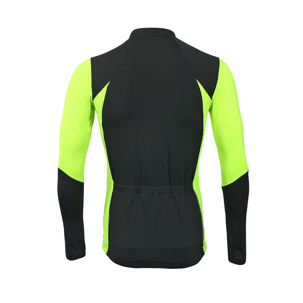 Купить с кэшбэком ARSUXEO Men's  Autumn Cycling Jersey Bike Bicycle Long Sleeves Slim Fit Compression MTB Clothing Bike Shirt Jersey 6023