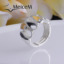 MeiceM 2021 New Fashion Geometric Rings for Women Girl Punk Style Party Jewelry Anniversary Ring Accessories Wholesale Gifts