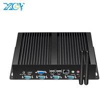Fanless תעשייתי מיני מחשב Intel Pentium 2117 DDR3L RAM mSATA SSD 4 * RS232 8 * USB2.0 WiFi Gigabit Ethernet HDMI VGA Windows לינוקס