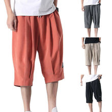 Men Clothing 2021 Men Fashion Casual Clothes 5XL Summer Cropped Pants Short Drawstring Loose Trousers Plus Size