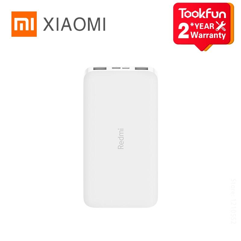 Xiaomi Redmi Power Bank 10000 / 20000mAh USB-C 74Wh 3.7V deux voies 18W MAX Charge rapide double entrée sortie chargeur batterie externe