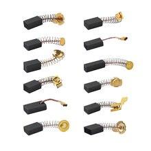 10 stücke bohrer elektrische grinder ersatz carbon pinsel graphit kupfer ersatzteile für elektrische motoren graphit pinsel