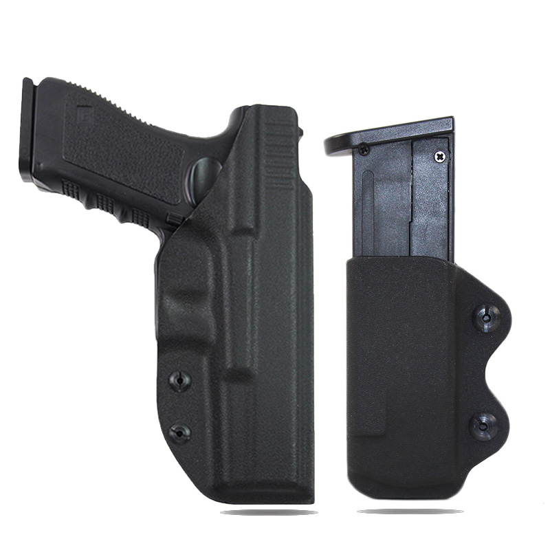 IWB Kydex Holster Pistol Airsoft Gun Holster For Glock 17 22 26 31 Hunting Accessories Gun Case Hidden Holster With 9mmMAG Pouch