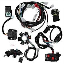 Катушка зажигания для квадроцикла Go Kart, 1 комплект, сменная длительная Катушка зажигания, жгут проводов, аксессуары для GY6 125CC-150CC