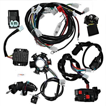 1 Set ATV Go Kart Car Ignition Coil Replacement Long-Lasting Ignition Coil Wire Harness Accessories For GY6 125CC-150CC