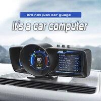 Pantalla frontal para coche HUD de 3,5 pulgadas, OBD2 multifunción, velocímetro con sistema GPS, sistema de alarma de calibre automático, A600