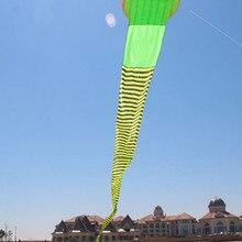 60 м большой Змеиный змей, мягкий змей, одиночная линия, устойчивый к разрыву, воздушный змей, для занятий спортом на открытом воздухе, качественный, легко Летающий, длинный хвост, гигантские воздушные змеи