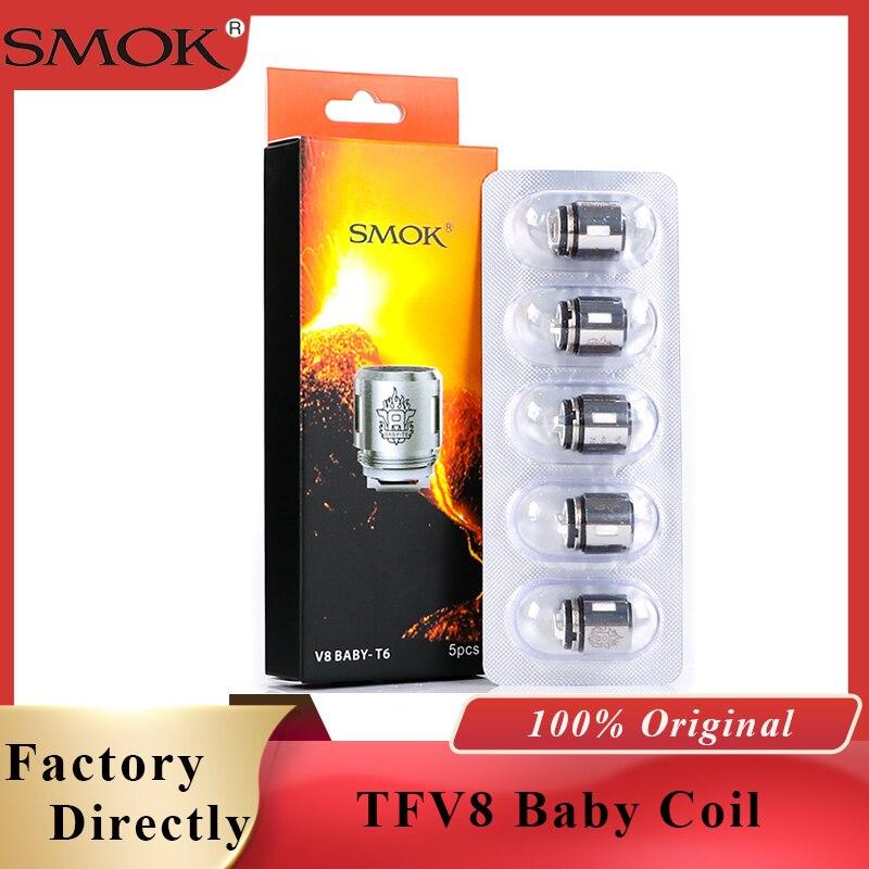 Original Smok TFV8 Baby Coil Head V8 Baby T8 T6 X4 Q2 Q4 M2 Core For TFV8 Big BABY Tank V12 Baby Prince Tank Vape Accessories
